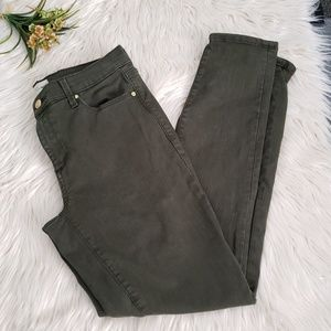 GAP true skinny army green pants 27R
